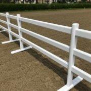 barrière équestre mobile PVC 3 rails