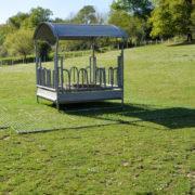 Dalles de stabilisation TR 01 - tour de râtelier, dalles recouvertes par l'herbe